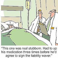 Hospital cartoon-Bad patient,Doctors consulting