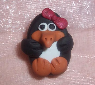 Penguin polymer clay photo pic image picture