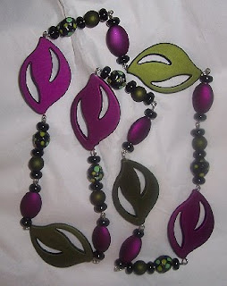 Paper Mache Beads necklace image photo picture