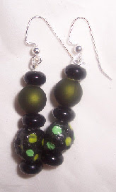 Paper Mache Beads earrings image photo picture
