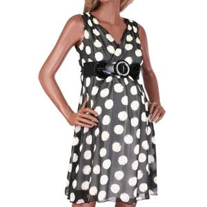 polka dot maternity dress image