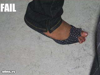 open toed shoe fail image photo picture