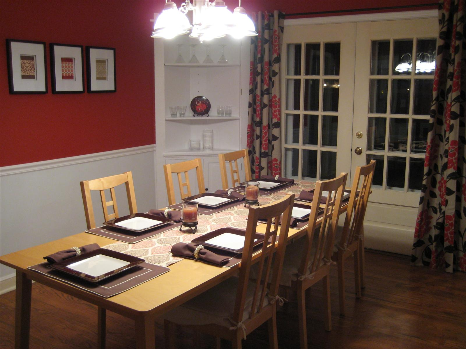 Dining rooms with chair rail paint ideas simple home decoration - Red dining room color ideas ...