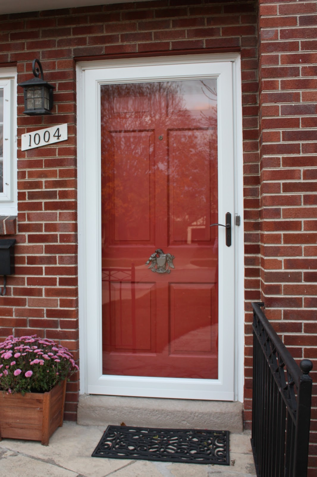 Red Door With Glass : Russet street reno our front door