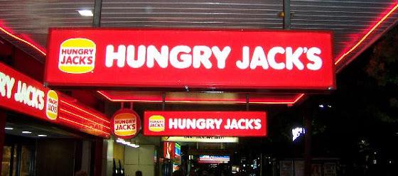 Así se ve el Hungru Jack's en Australia, lo que viene siendo el Burger king en América