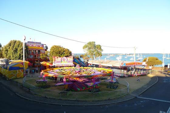 Así se ve el parque de diversiones a media tarde