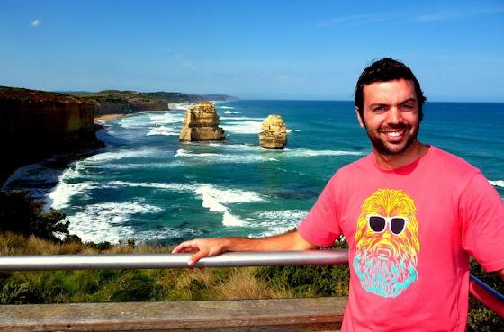 Aquí estoy yo en 12 apóstoles a unas 3 o 4 horas de Melbourne y que vimos durante nuestro viaje