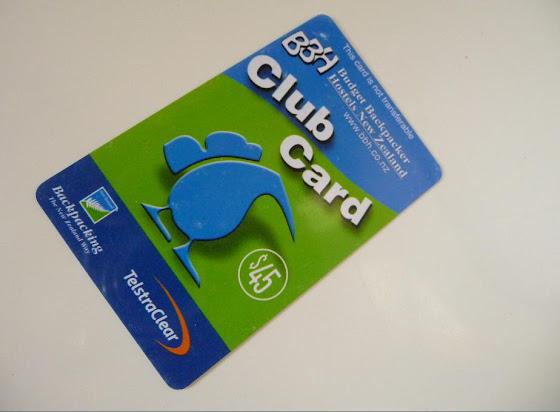 Así se ve la tarjeta BBH también conocida como tarjeta Club Card para los hosteles