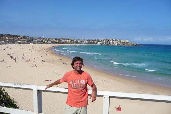 Aquí estoy yo disfrutando de Bondi Beach, Sydney