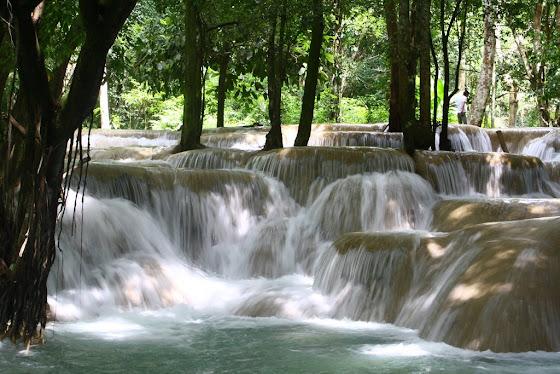 así se ven las cataratas en Luang Prabang, precioso