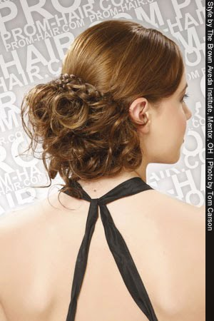 Hairstyles : The Sexy Bun / Chignon Braid Prom Hairstyles The long thick,