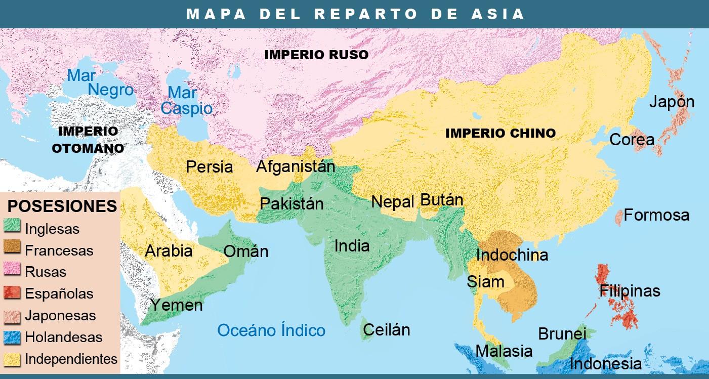 Mapa De Asia En El Siglo Xix