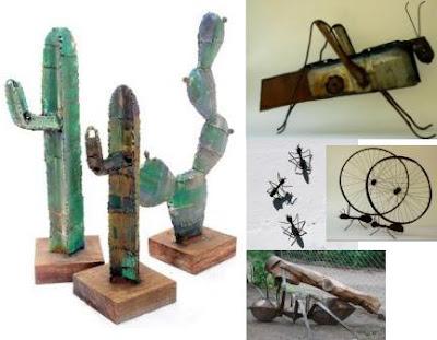 Jardiner a paisajismo objetos de chapa para decorar el jard n for Objetos decoracion jardin