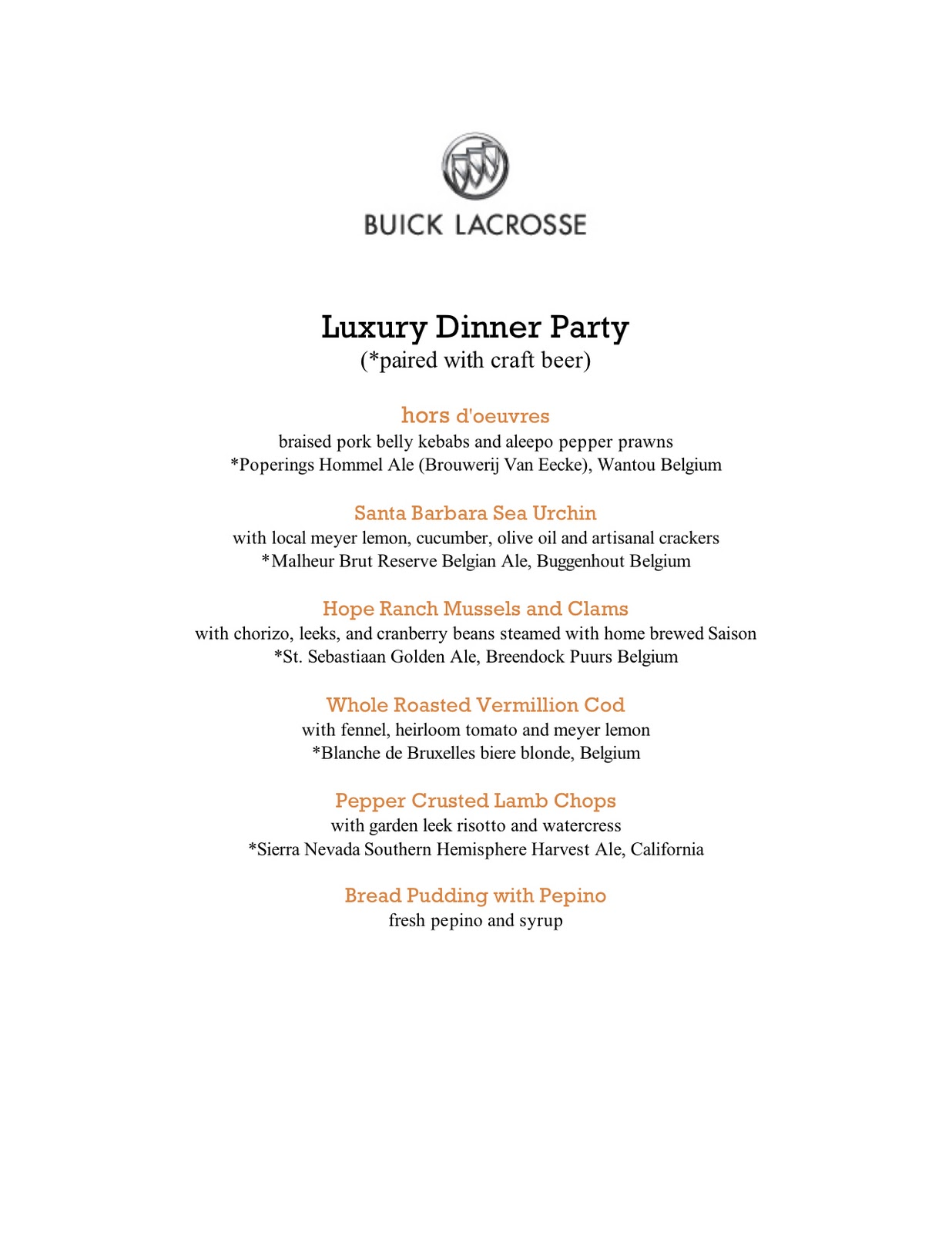 A Luxury Dinner Party, Paired With Beer