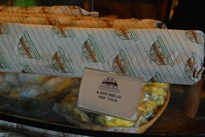 baguio country club raisin bread price packaging