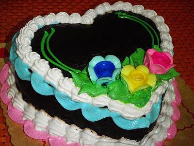 mer-nel's chocolate cake heart