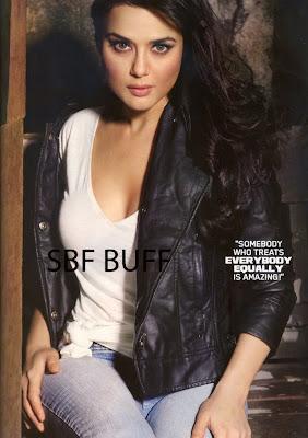 Preity Zinta on Maxim Magazine