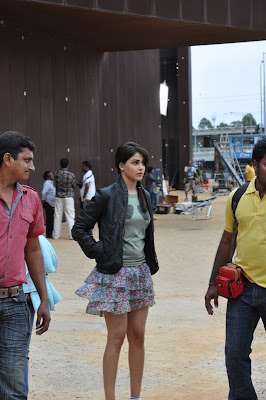 Genelia D'souza on the sets of 'Orange'