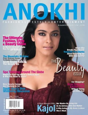 Kajol on the cover of Anokhi Magazine
