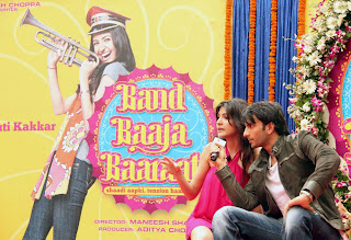 Anushka Sharma at Band Baaja Baraat Movie Press Meet