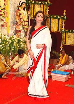 Rani Mukherji at Durga Puja