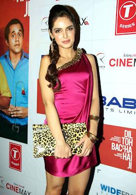 Shazahn Padamsee at Dil to Bacha Hai Jee Movie Music Launch function pics