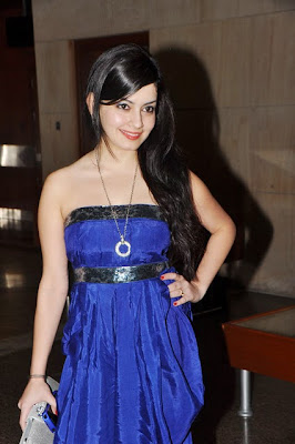 Shambhavi Sharma in blue dress