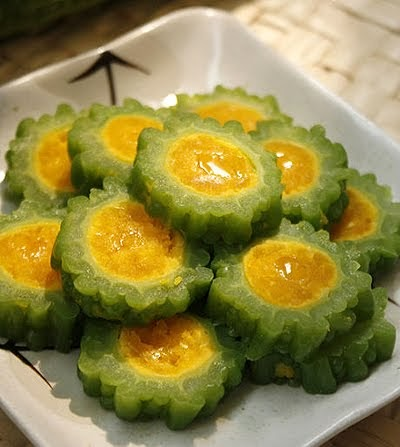 Bitter melon stuffed with salted egg vietnamese food vietnamese recipes - Bitter melon culture ...