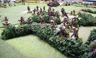 British soldiers in the undergrowth