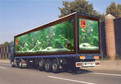 aquarium in a truck