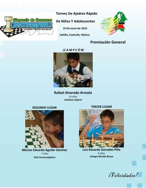 Torneo de Ajedrez Rápido 19 de junio de 2010