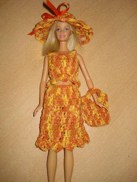 conjunto barbie amarillo matizado