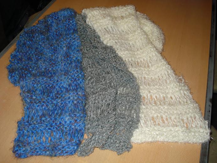 bufandas en punto vainilla desde $ 20