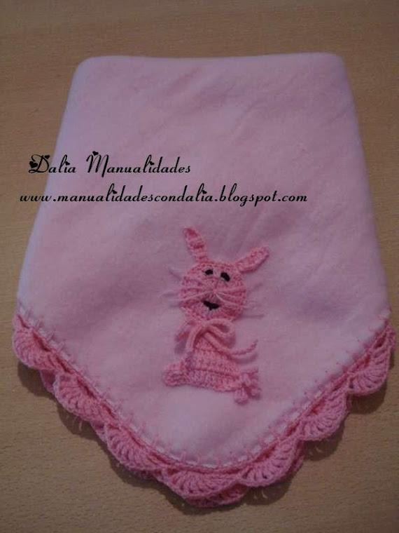 manta polar rosa fuerte