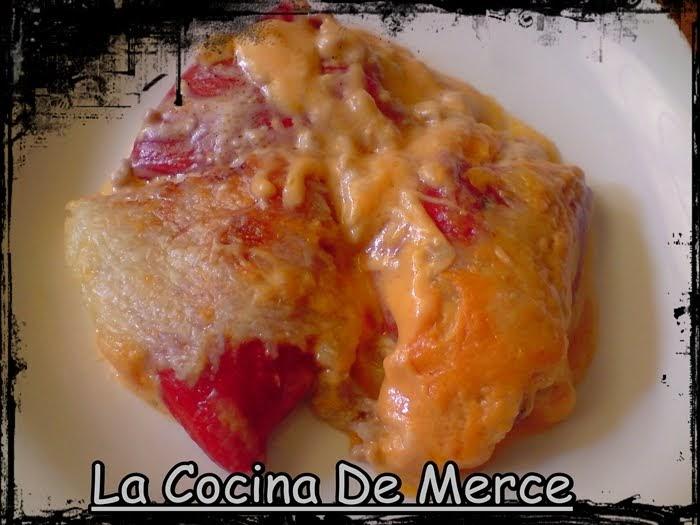 La cocina de merce pimientos rellenos de carne y bacon - Pimientos rellenos de carne picada y bechamel ...