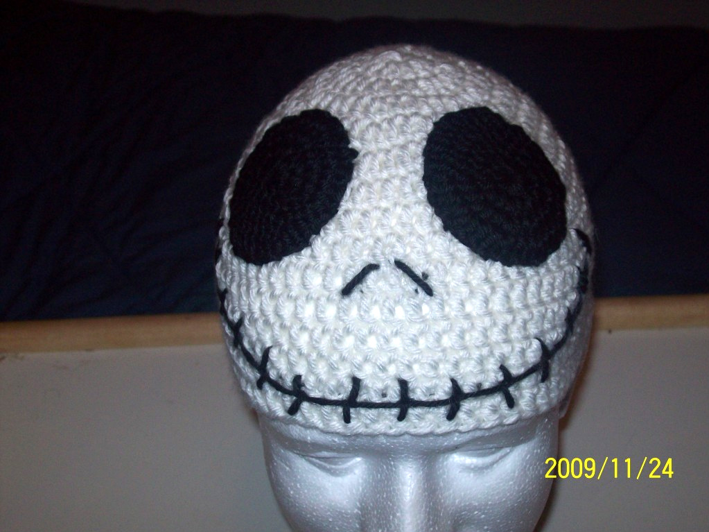 Crochet Pattern For Jack Skellington Hat : ChrisCrossCrafts: Jack Skellington Hat