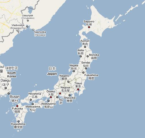Japan Map Cities