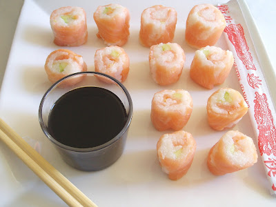 Makis de saumon fum