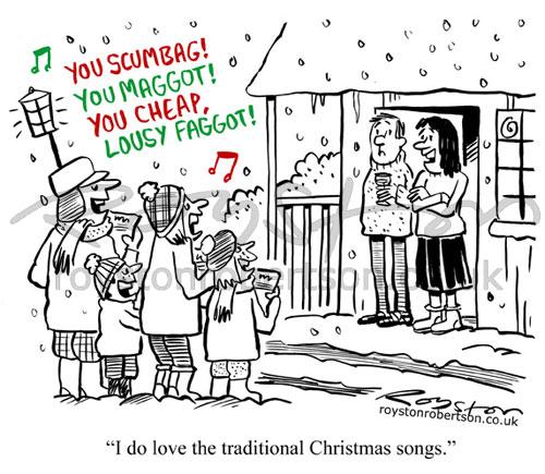 Royston Cartoons: Carol singers cartoon: A Christmas classic