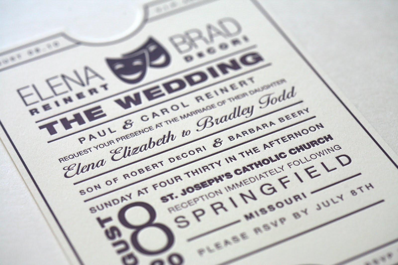 b.loved: Elena & Brads Theatrical Wedding