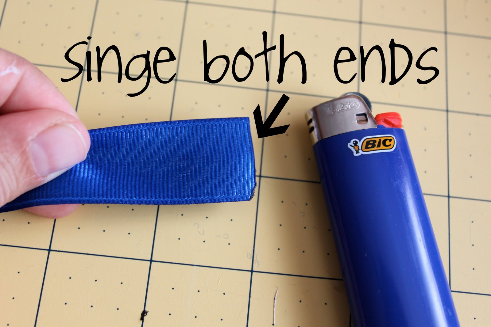 how to cut ribbon so it won t fray