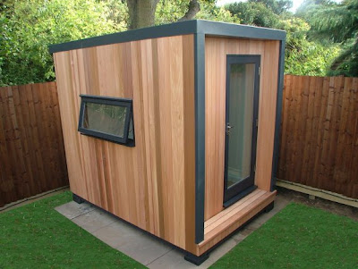 Shedworking choosing a shed garden lodges for Cheap garden office