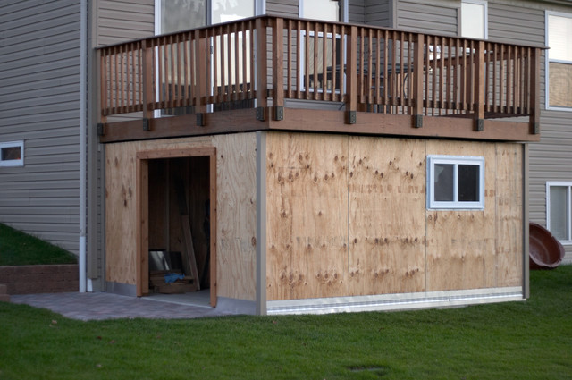 Under Deck Storage Ideas http://www.shedworking.co.uk/2010/10/how-to-build-shed-under-deck.html