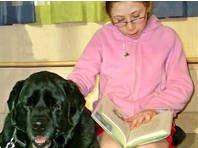 Hündin Emma hilft beim Lesen