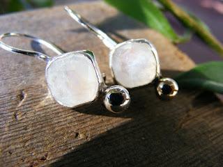 moonstone sterling silver dangle earrings