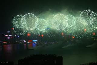 Second Picture of fireworks in Victoria Harbour