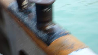 Image of the floor of a boat approaching a camera at high speed...