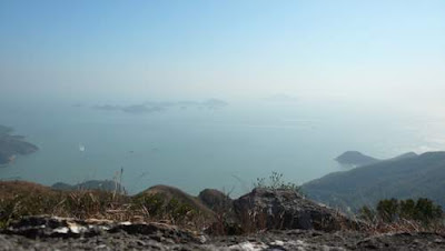 Image of the water on the backside of Lantau Island, Hong Kong, away from Hong Kong Island.