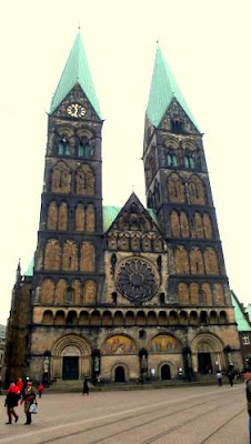 Bremen State Cathedral (Bremen, Germany) a nice Gothic Church (admittedly, this facade shows the work of a Romanesque Revival 'facelift' done in the late nineteenth century, but it shows the scope of the structure...)