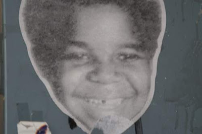 Graffiti image of Gary Coleman from the old town centre of Genoa, Italy.